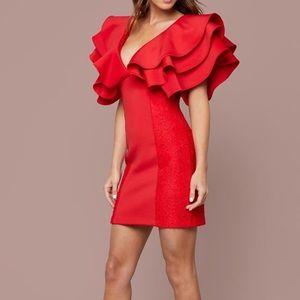 bebe Dresses - Bebe Dramatic Ruffle Mini Dress